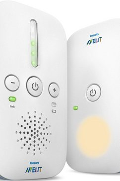 philips avent dect babyfoons scd503-26, met nachtlampje en smart eco-modus, wit-lichtblauw wit