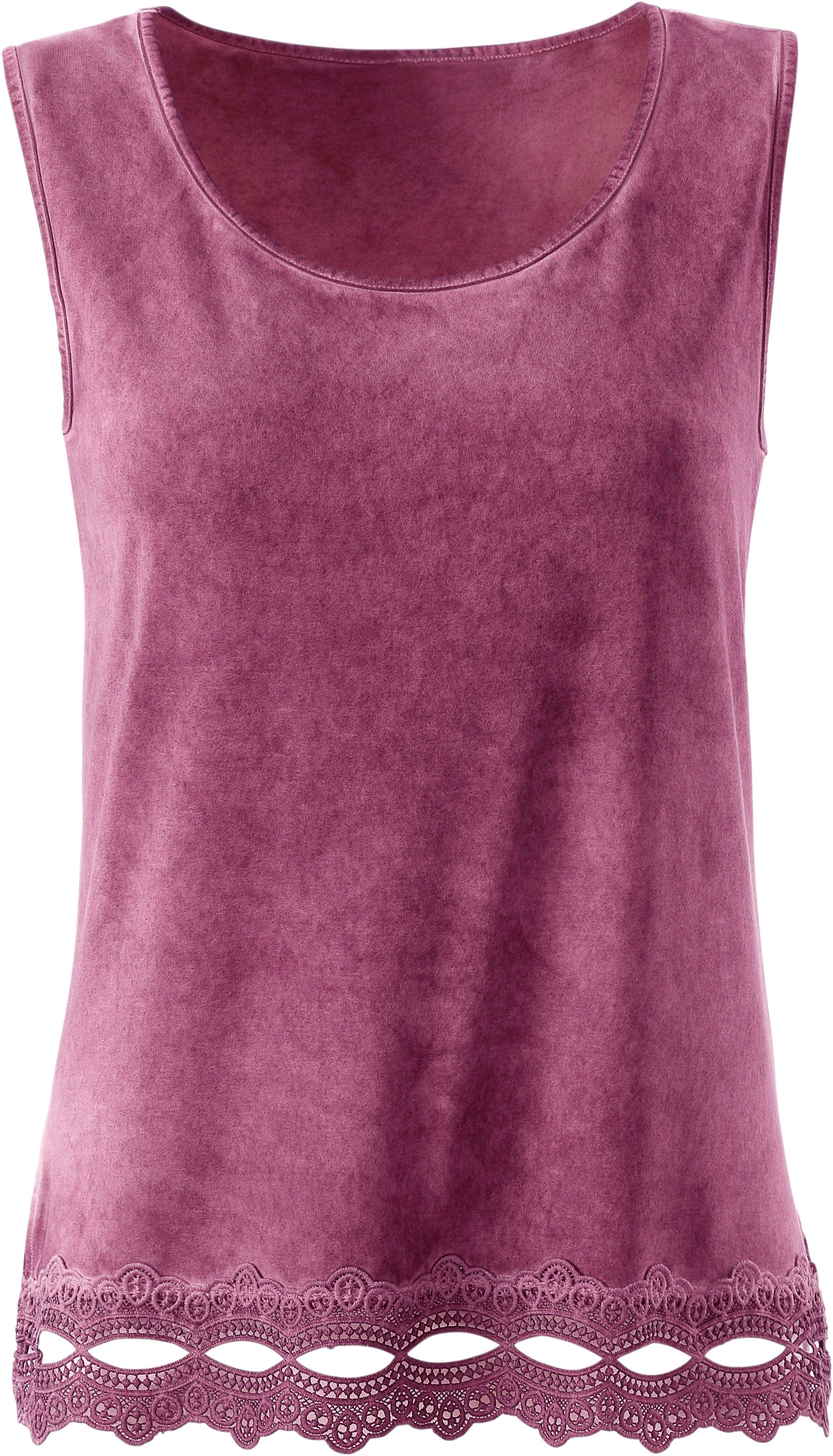 Ambria shirttop met kanten zoom bij OTTO online kopen