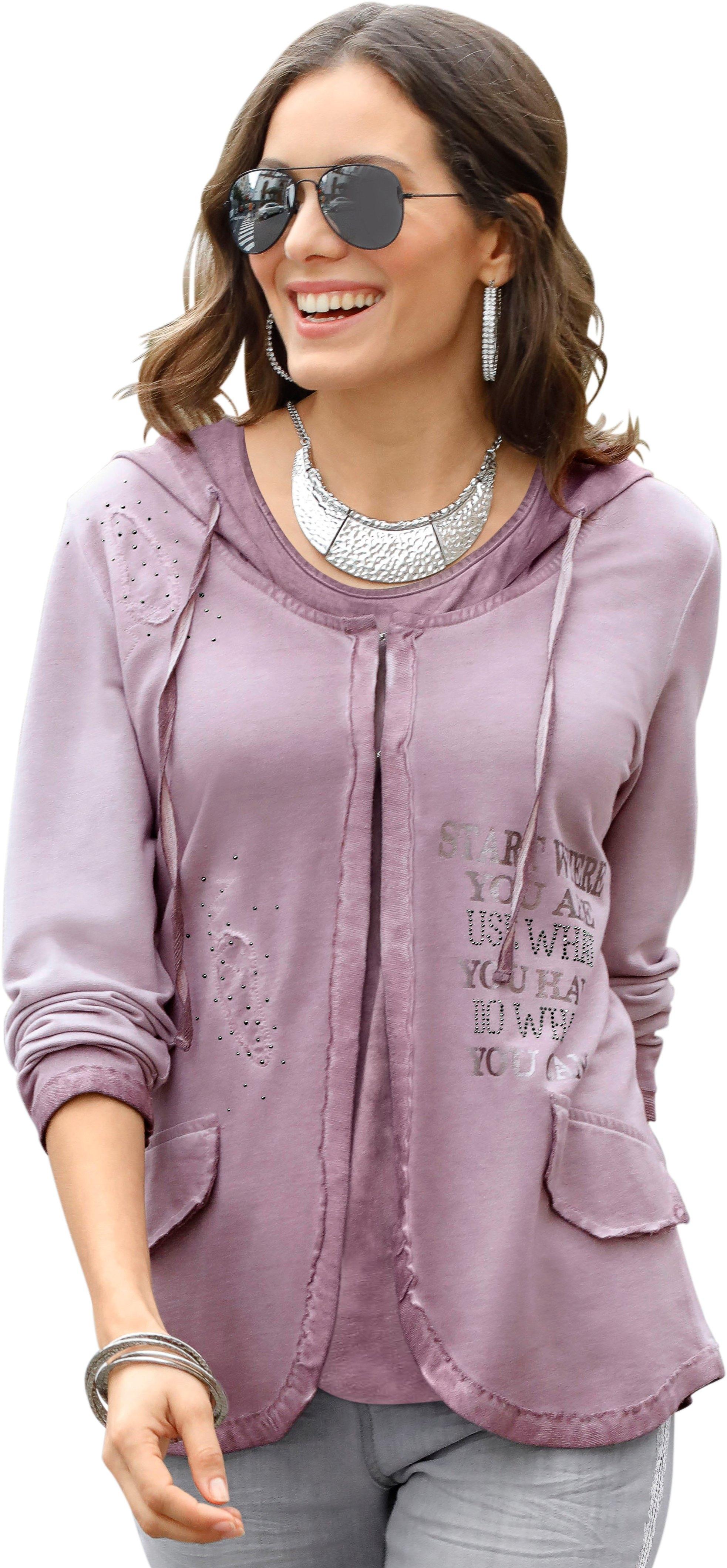 Ambria shirtjasje in vintage-stijl nu online bestellen