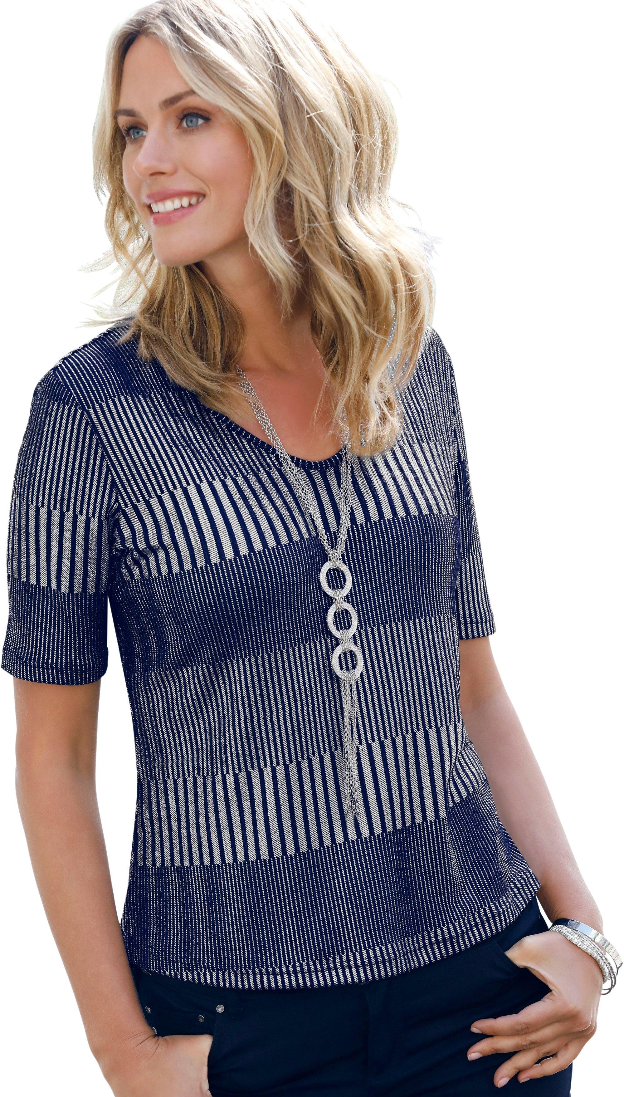 Ambria shirt met zilverkleurige folieprint in de webshop van OTTO kopen