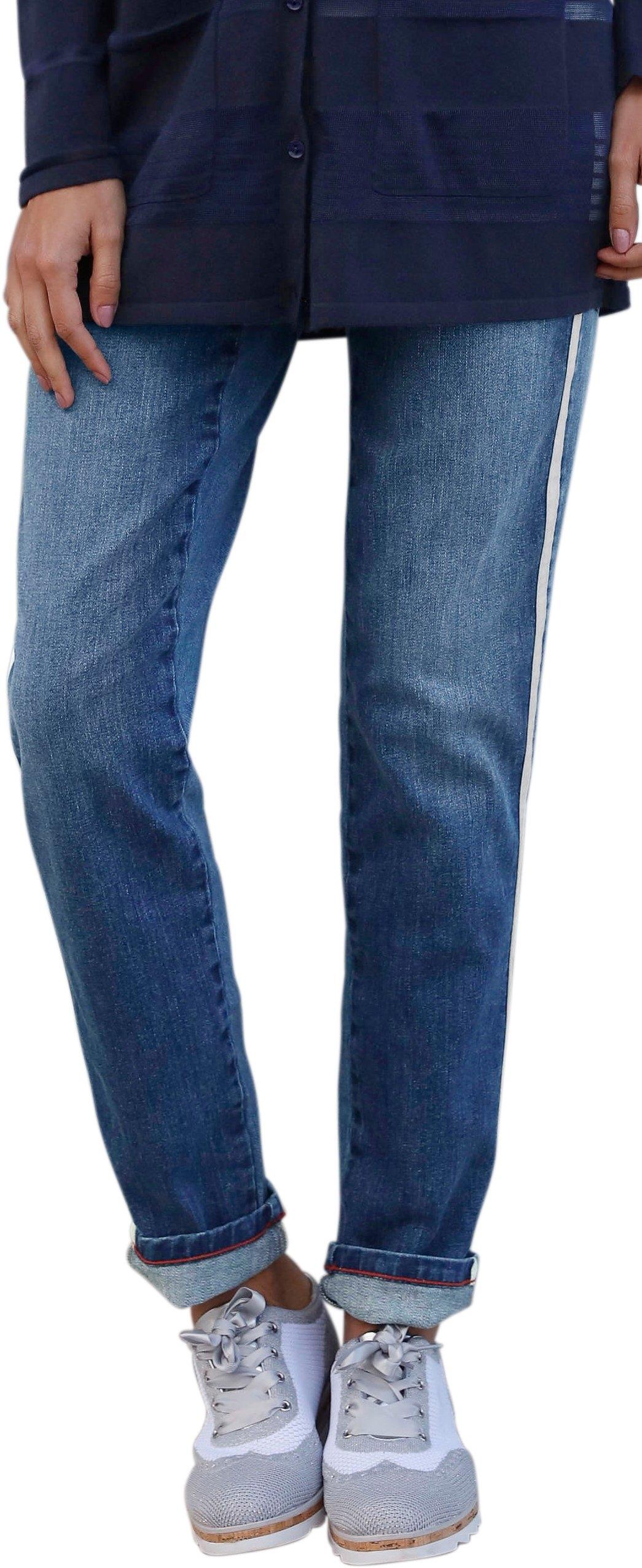 Création L jeans met vlotte glinsterstrepen goedkoop op otto.nl kopen