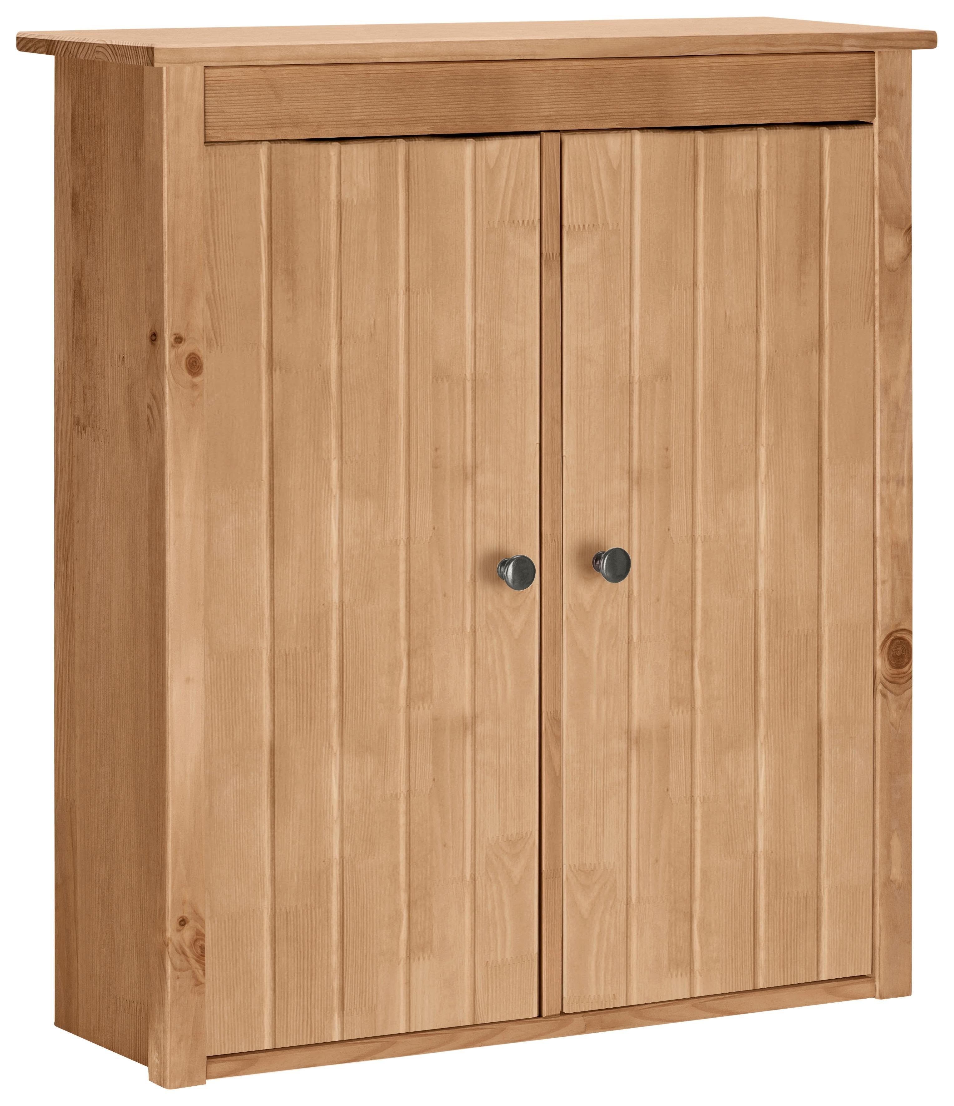 Home affaire hangend kastje Westa Breedte 62 cm, badkamerkast van massief hout, grenenhout, metalen grepen, 2 deuren, veel bergruimte nu online kopen bij OTTO