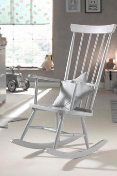 vipack schommelstoel rocky van massief hout grijs