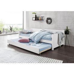 divan met 2e slaapgelegenheid en rolbodem wit