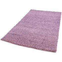 hoogpolig vloerkleed, »pastell shaggy300«, carpet city, rechthoekig, hoogte 30 mm, machinaal geweven paars