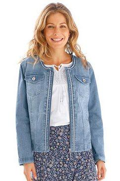 classic inspirationen jeansjack met geborduurd sierband blauw