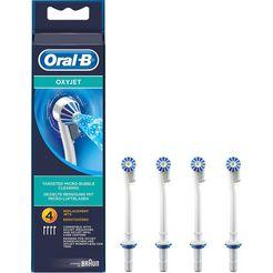 sproeiborsteltje, oral-b, 'oxyjet', set van 4 wit
