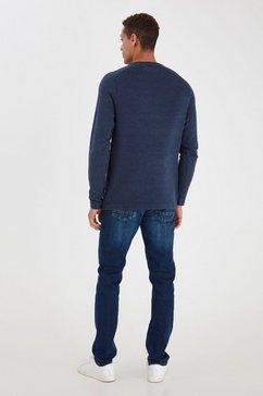 blend gebreide trui bhnorun blauw