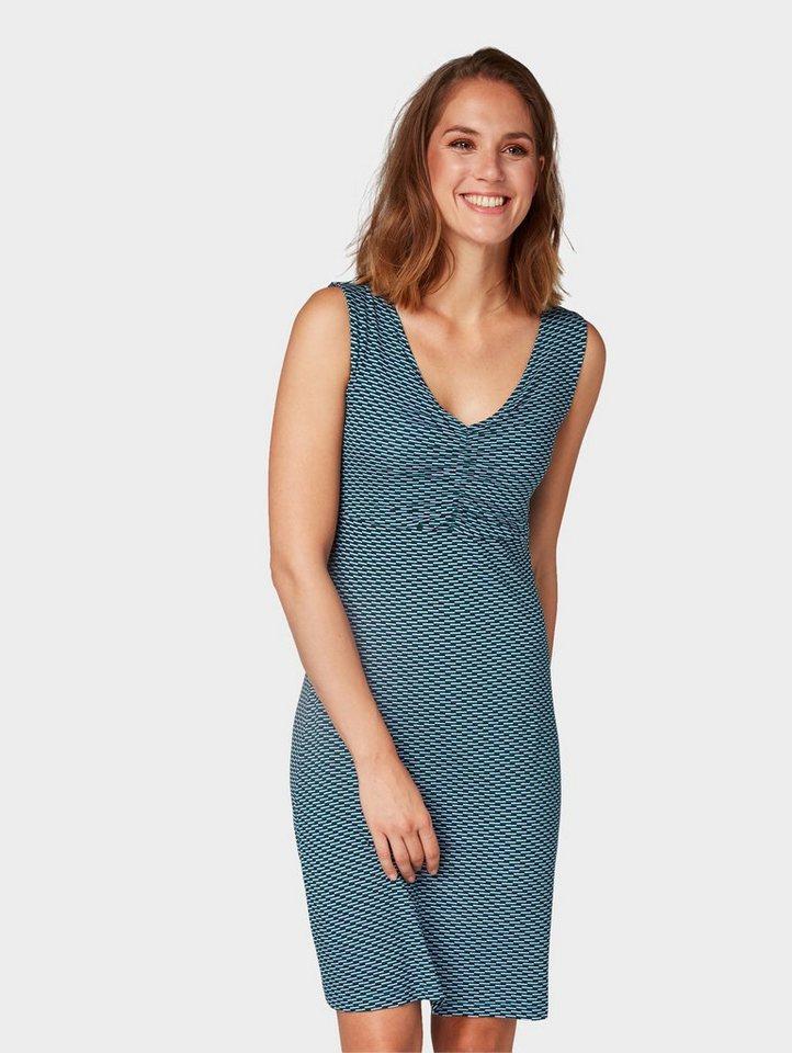 Tom Tailor jerseyjurk jurk met V-hals blauw