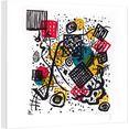wall-art artprint op linnen kandinsky - kleine werelden v multicolor