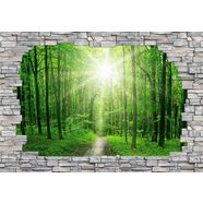 wall-art fotobehang sunny forest muur groen
