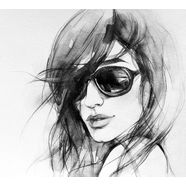 wall-art vliesbehang i wear my sunglasses wit