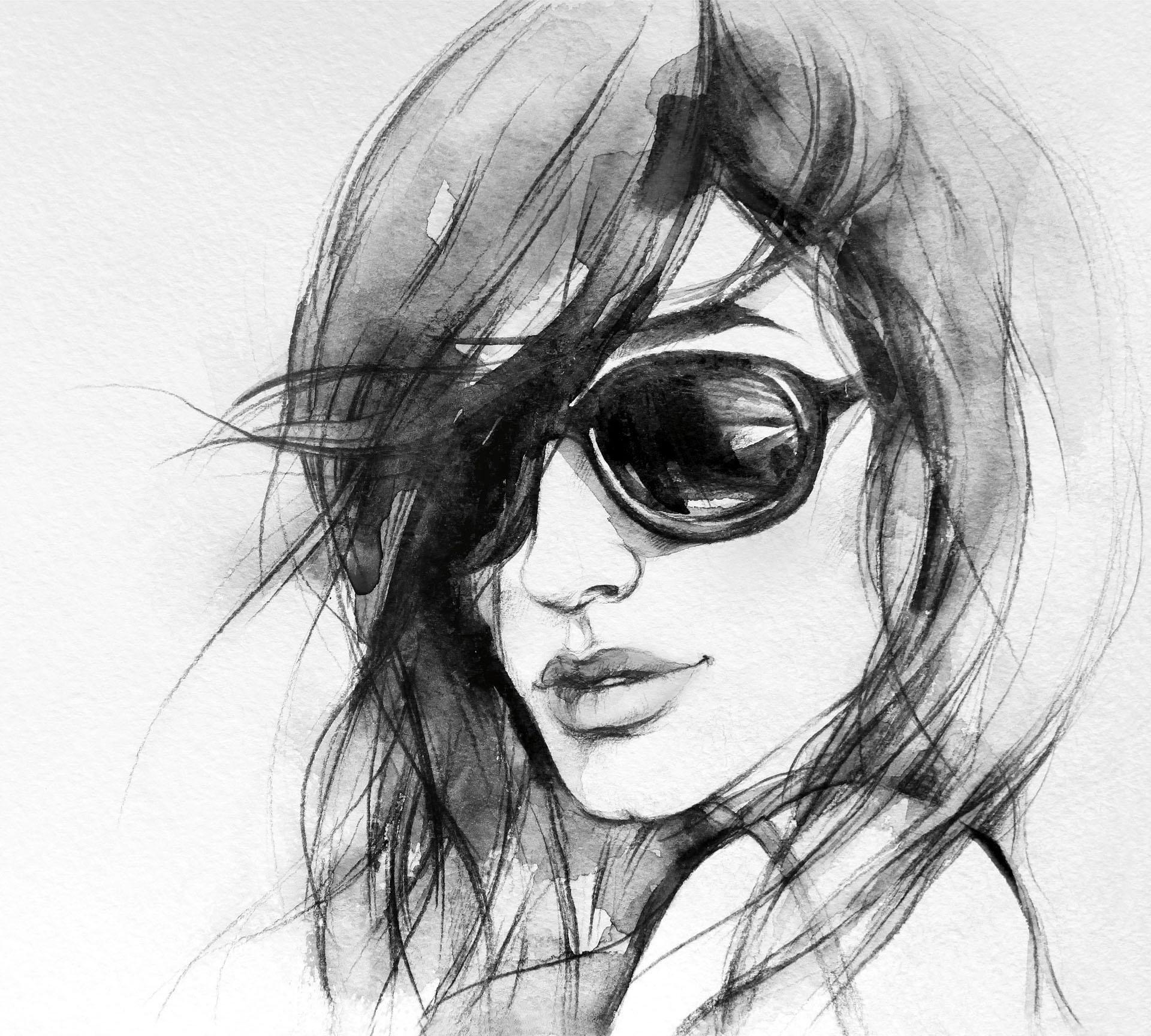 Wall-Art vliesbehang I wear my sunglasses goedkoop op otto.nl kopen