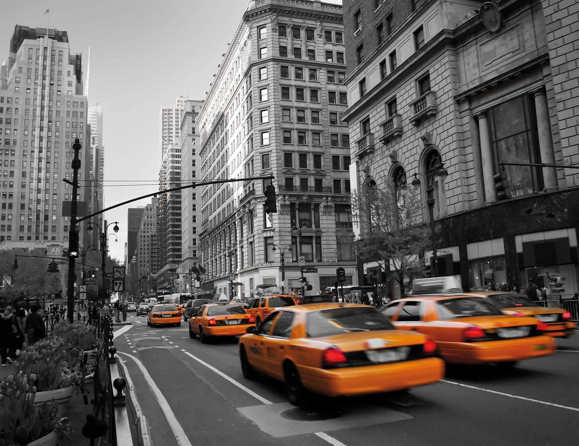 Wall-Art vliesbehang Cabs in Manhattan nu online bestellen