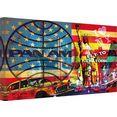 wall-art artprint op linnen pan am - new york multicolor