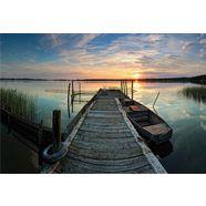 vliesbehang »sunset at the lake« multicolor