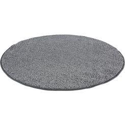 vloerkleed, »shaggy uni«, andiamo, rond, hoogte 15 mm, machinaal getuft grijs