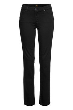 lee straight jeans »marion« schwarz