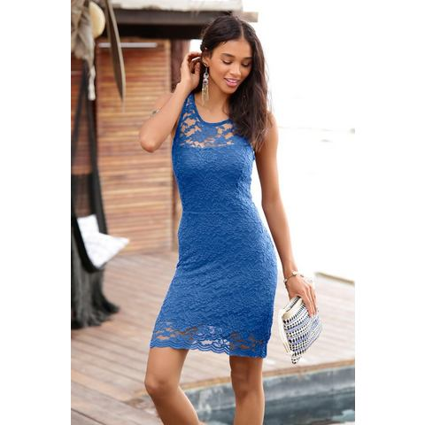 Lascana kanten jurk blauw