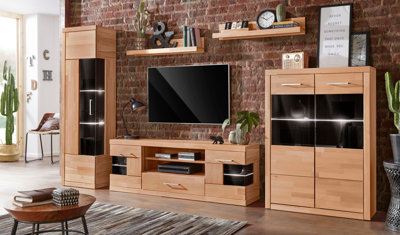 Wandmeubel »Serie Ribe«, 5-delig: 2 vitrinekasten, 1 tv-meubel en 2 wandrekken nu online bestellen