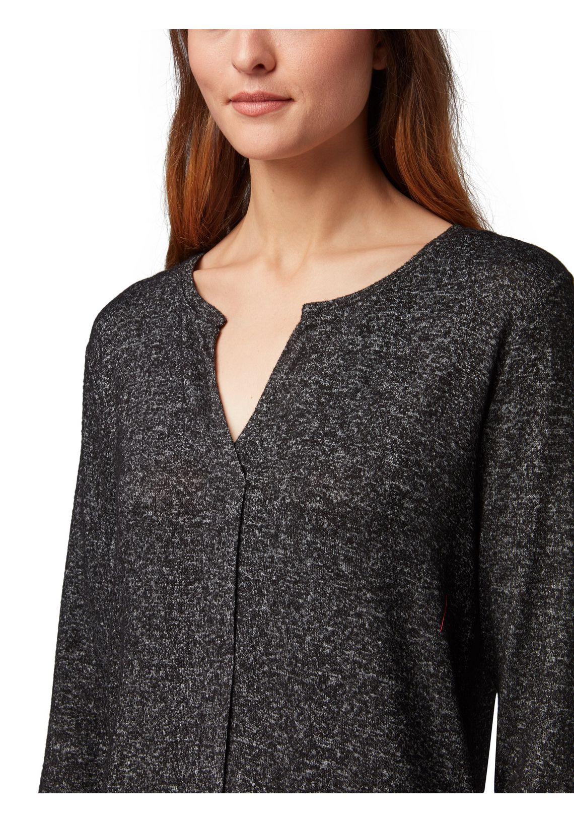 Tom Tailor Shirt Met Lange Mouwen In Mêlee-look Bestellen Bij Zwart duBamIKU