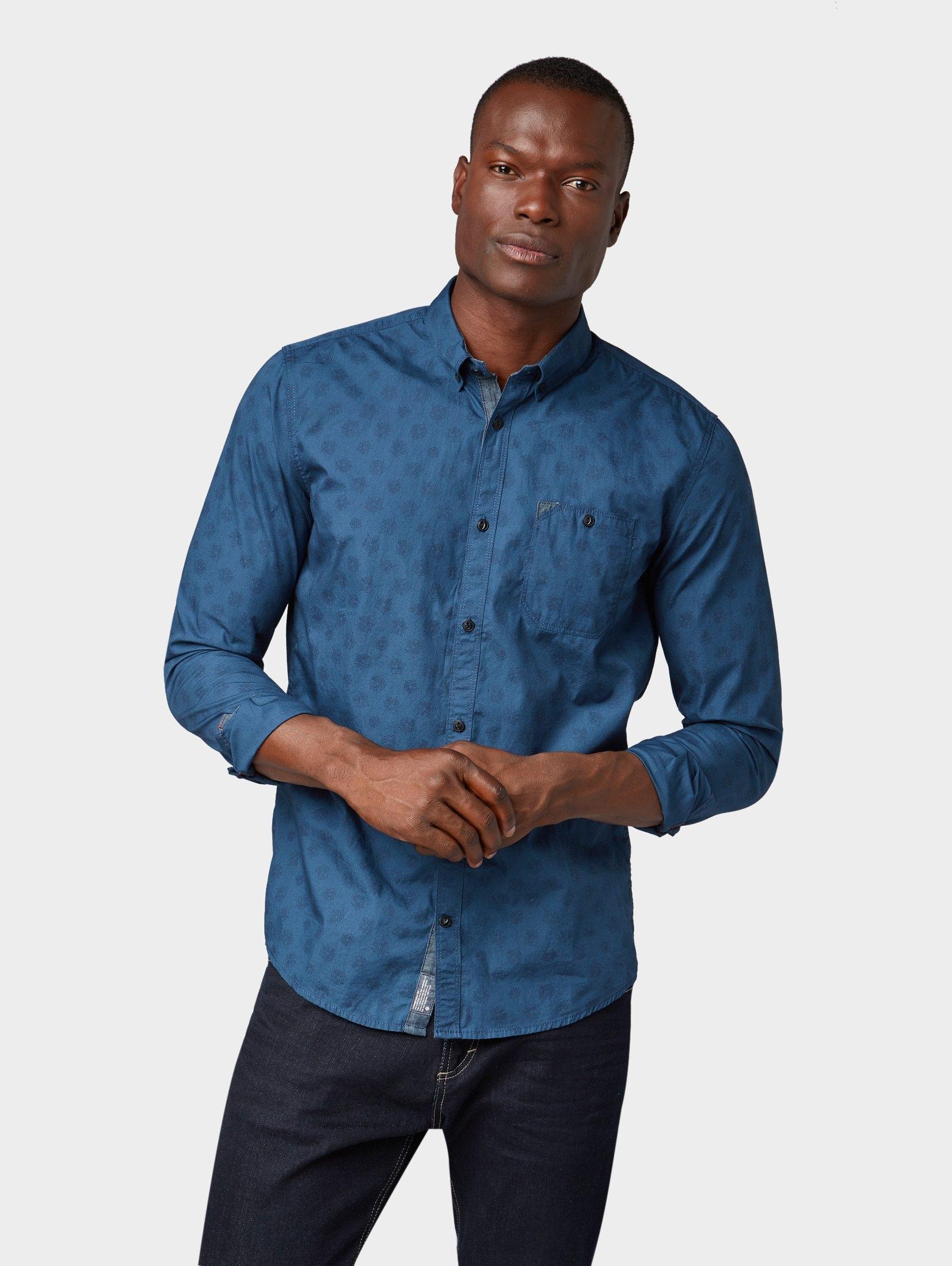 TOM TAILOR overhemd »Gedessineerd overhemd« voordelig en veilig online kopen
