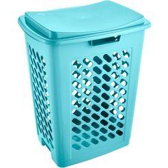 keeeper wasmand, inhoud 60 l, 49 x 37 x 60 cm, »piet« blauw