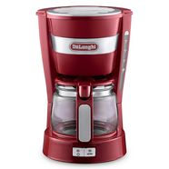 de'longhi filterkoffieapparaat active line icm14011.r, 0,65 l rood
