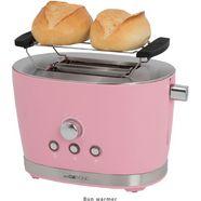 clatronic toaster »clatronic ta 3690 pink«, voor 2 sneetjes, 850 w roze