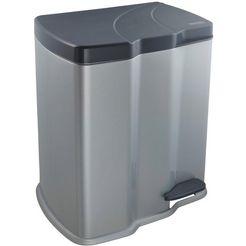 keeeper afvalemmer met 2 bakken, perfect voor het scheiden van afval, »gunnar« zilver