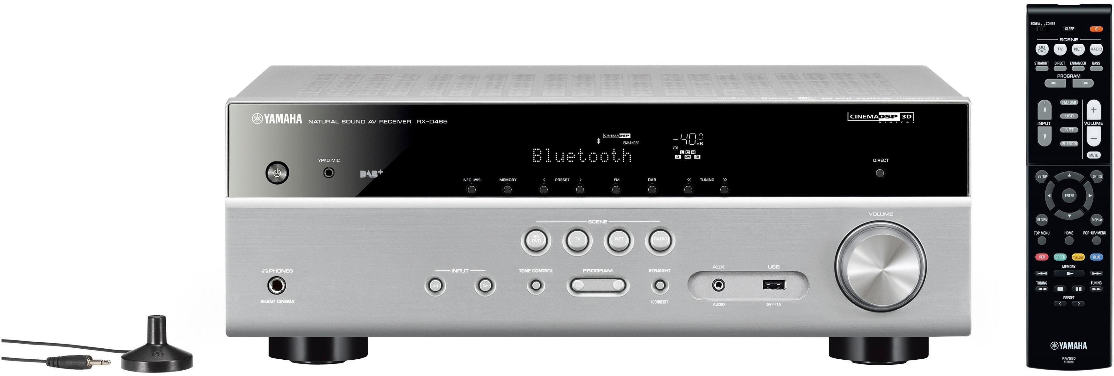 Yamaha »RX-D485« 5.1 AV-receiver (Bluetooth, wifi, LAN (ethernet), 4K-upscalingtechniek) - verschillende betaalmethodes