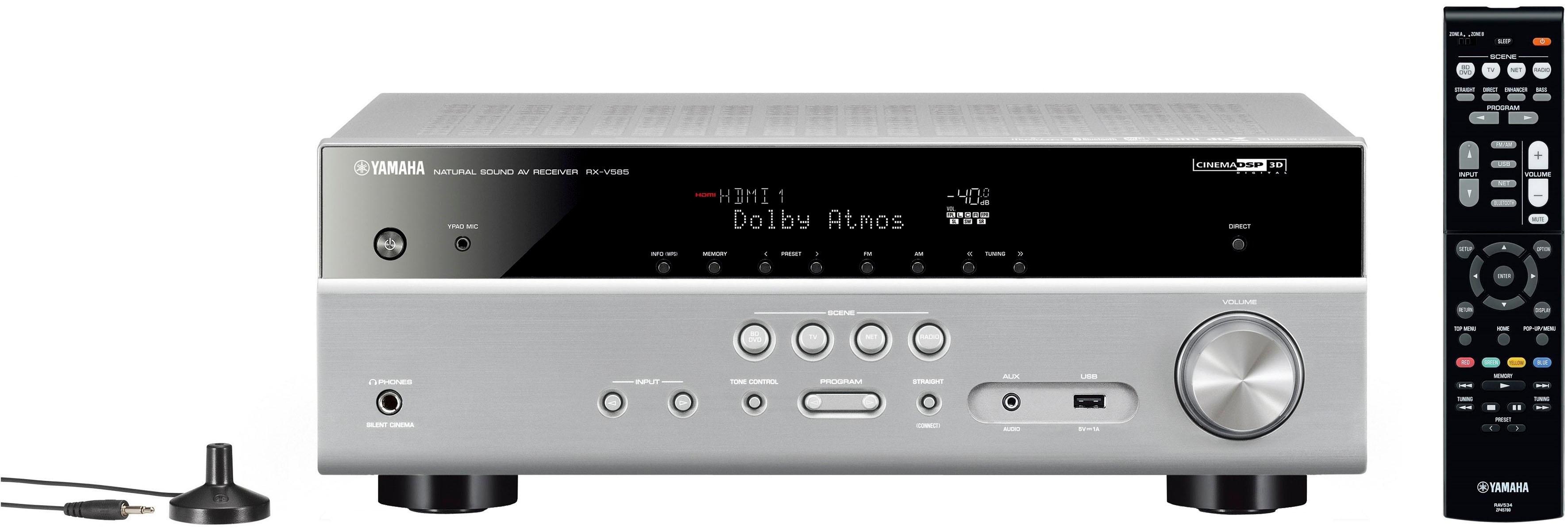 Yamaha »RX-V585« 7.2 AV-receiver (Bluetooth, wifi, LAN (ethernet), 4K-upscalingtechniek) - gratis ruilen op otto.nl