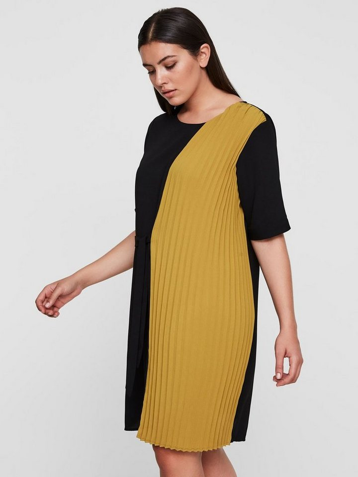 Junarose Contrasterende jurk zwart