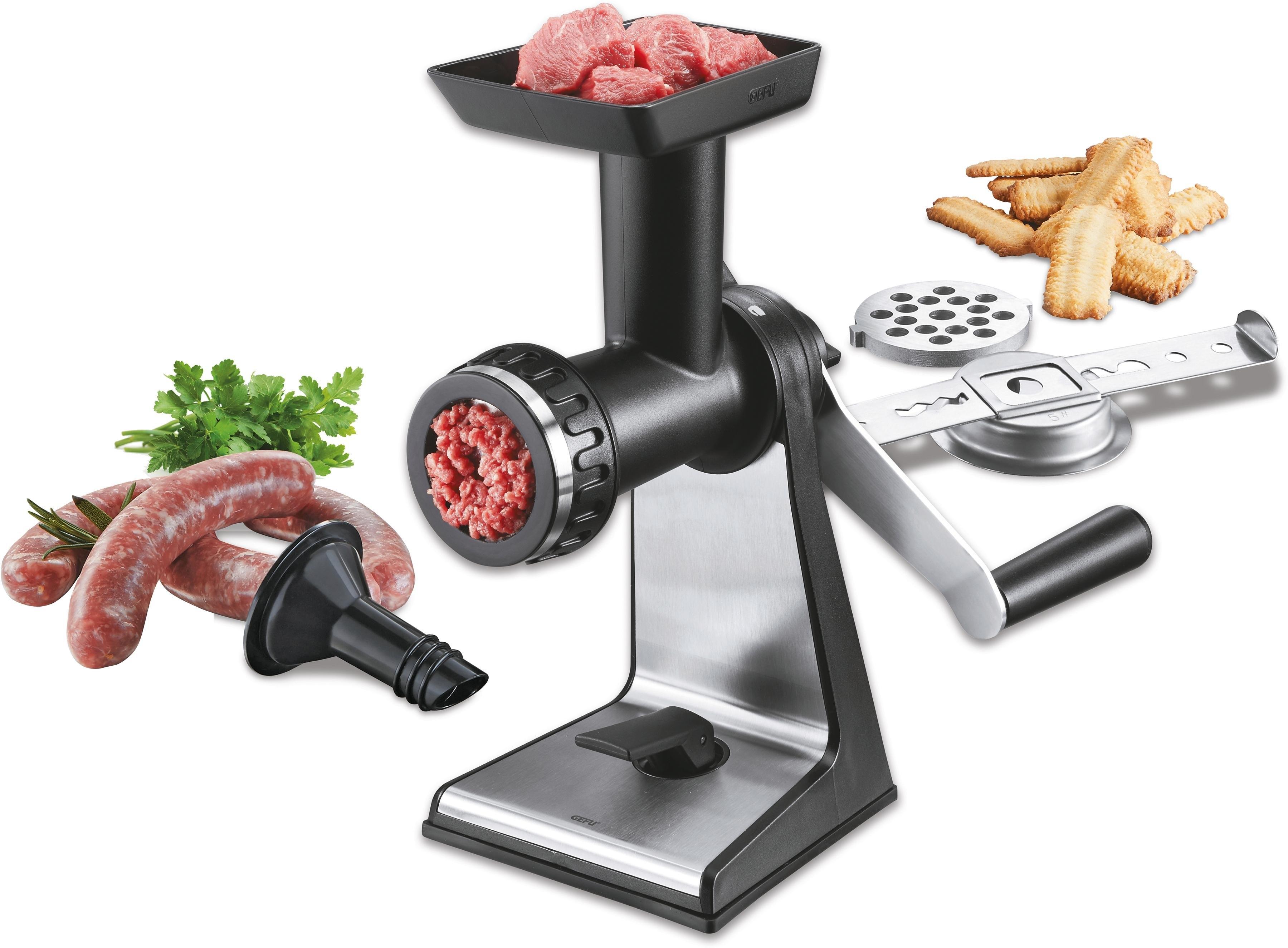 GEFU vleesmolen, edelstaal/hoogwaardige kunststof, »TRANSFORMA®« - verschillende betaalmethodes