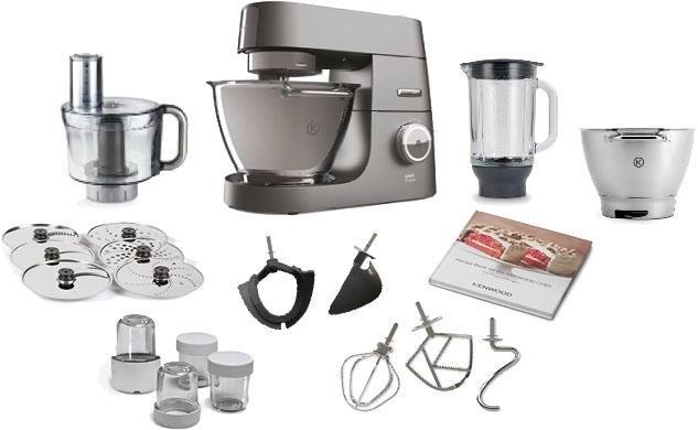 Op zoek naar een Kenwood Küche Kenwood Keukenmachine Chef Titanium KVC74115, 4,6 liter, grijs, met accessoireset, 1500 Watt? Koop online bij OTTO