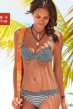 s.oliver red label beachwear beugelbikini trendy motievenmix zwart