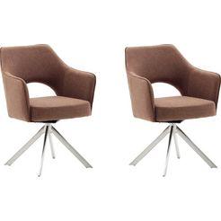 mca furniture stoel tonala (set, 2 stuks) oranje