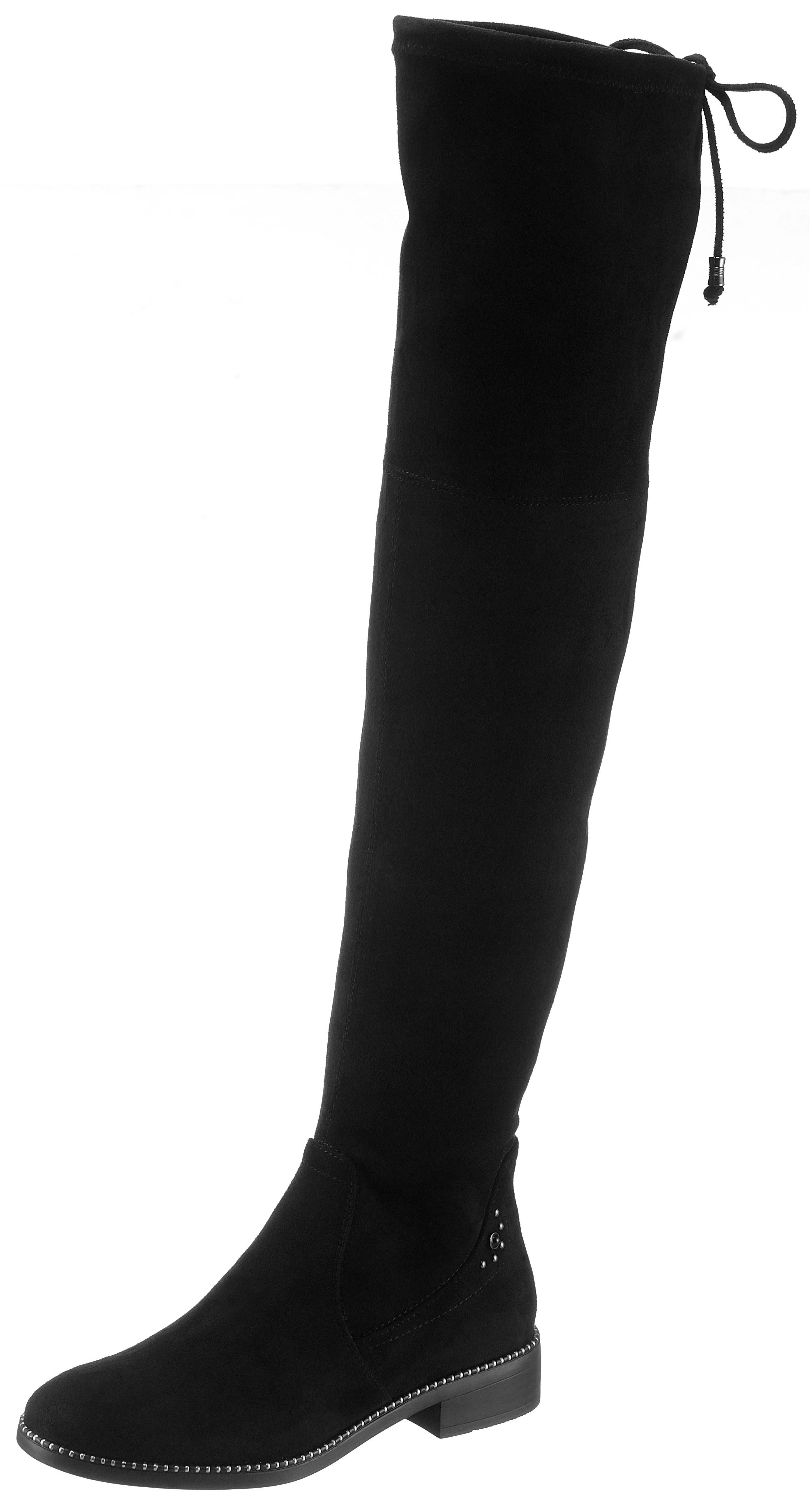zwarte laarzen zonder hak