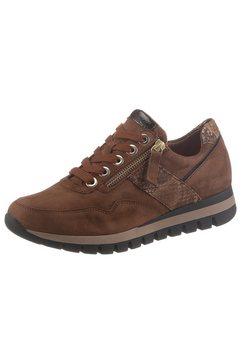 gabor sneakers met sleehak met contrastbeleg bruin