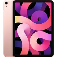 "apple tablet ipad air (2020) wi-fi + cellular 64gb, 10,9 "", ipados, inclusief oplader roze"
