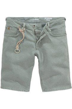 tom tailor denim jeansshort met sierband groen