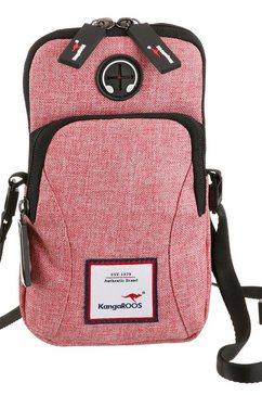 kangaroos gsm-tasje met praktische uitgang voor hoofdtelefoonkabel roze