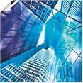 artland artprint keulen skyline abstracte collage 11 in vele afmetingen  productsoorten -artprint op linnen, poster, muursticker - wandfolie ook geschikt voor de badkamer (1 stuk) blauw