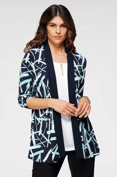 hermann lange collection blouseblazer van gedessineerde, elegante jersey blauw