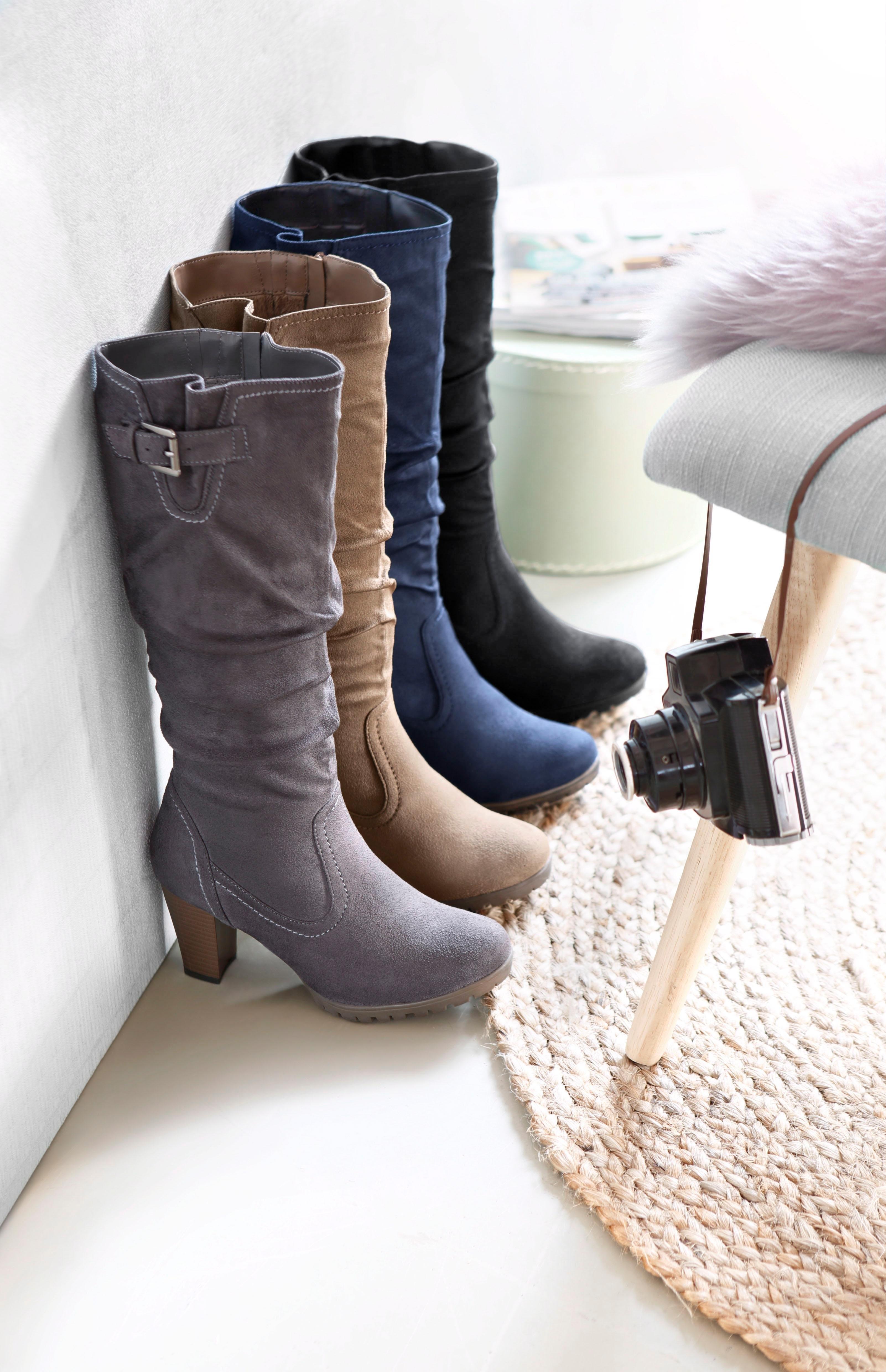 CITY WALK laarzen met rimpelingen bij de schacht bij OTTO online kopen