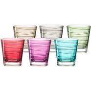 leonardo glas 'vario' (set van 6) multicolor