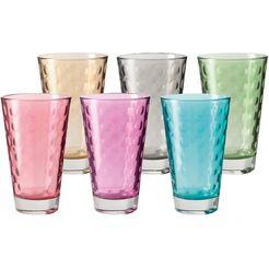 leonardo glas optic colori kwaliteit, 300 ml, 6-delig (set, 6-delig) multicolor