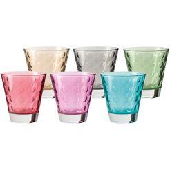 leonardo glas optic colori kwaliteit, 220 ml, 6-delig (set, 6-delig) multicolor