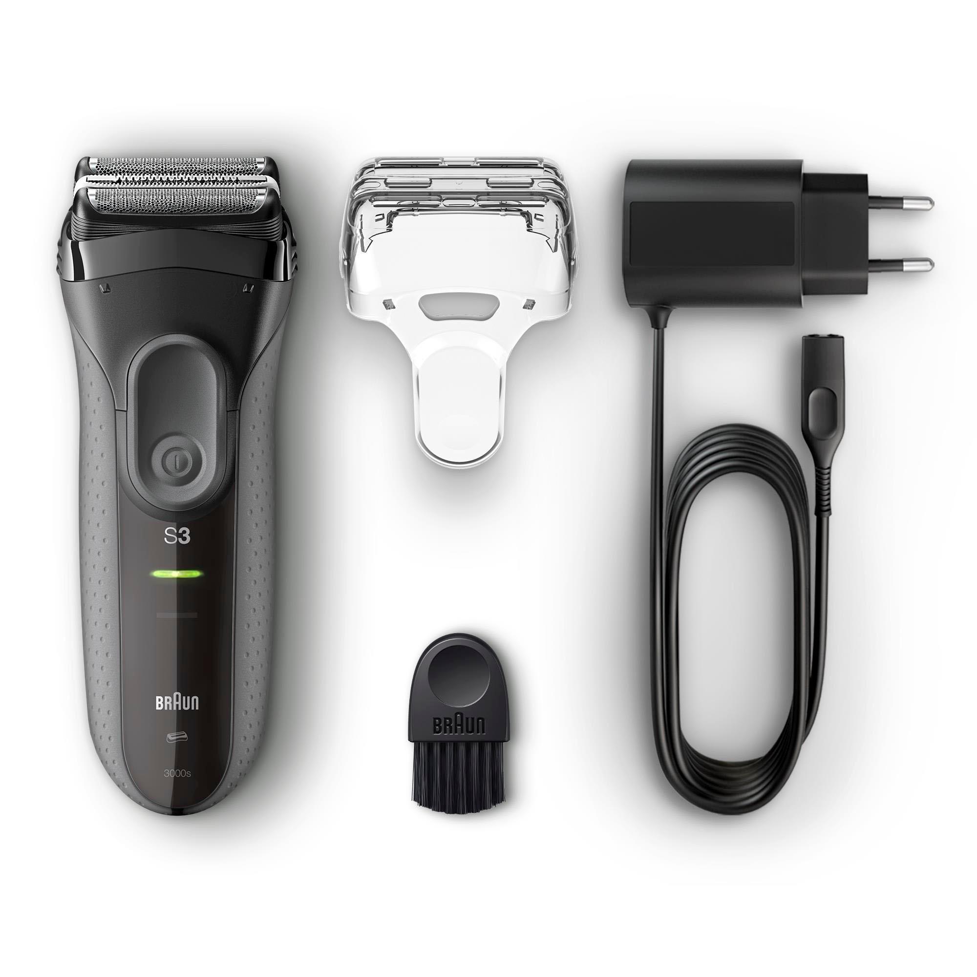 Braun scheerapparaat Series 3 ProSkin 3000s, oplaadbaar elektrisch scheerapparaat, zwart - verschillende betaalmethodes