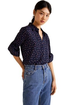 mango klassieke blouse »angelica« blauw